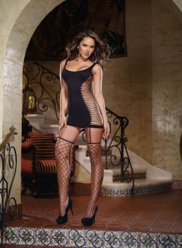 Garter Dress DR0102 schwarz