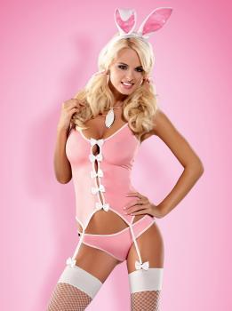 Bunny Suit pink Größe: S/M